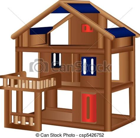 wood doll house  wooden doll house isolated  white