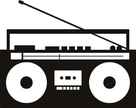 Radio Art Silhouette Boombox Graphic Images Amp Pictures Becuo