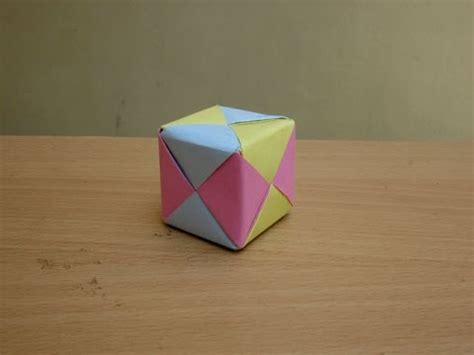 How To Make A 3d Cube On Paper - how to make a paper colourful 3d cube easy tutorials