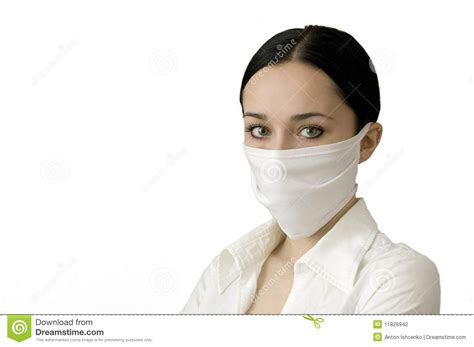 beautiful women   medical mask stock photography