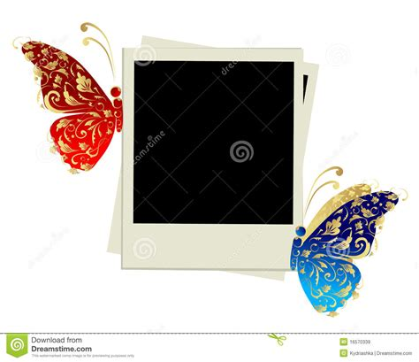 design photo frame download photo frame design with butterfly decoration stock vector