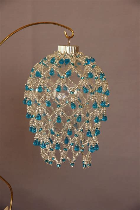beaded christmas ornaments free patterns beaded