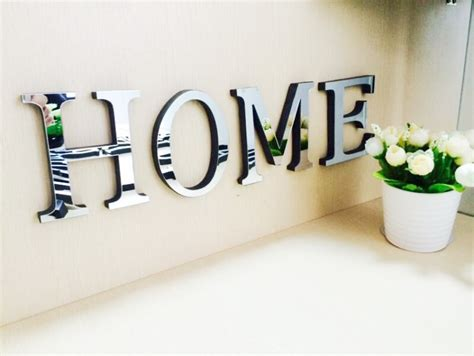 Letters Home Decor 10cmx8cmx1 2cm Thick Wedding Letters Home Decoration 3d Mirror Wall Stickers