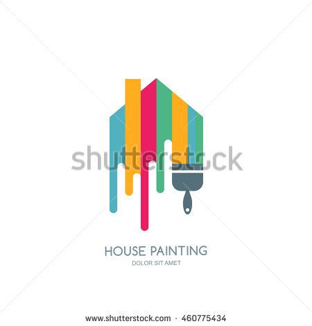 house painter logo house painting service decor repair multicolor stock vector 460775434 shutterstock