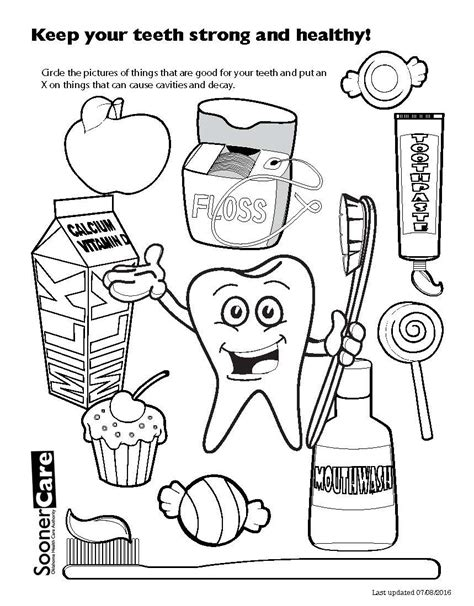 dental coloring pages for kindergarten tooth coloring pages printable for preschool of teeth kids