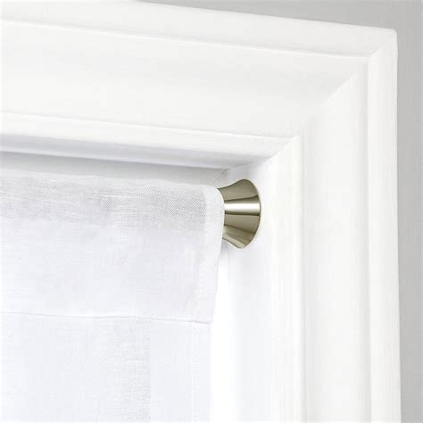 nickel curtain rod tension window curtain rod nickel in curtain rods and