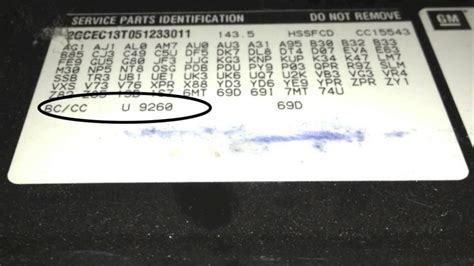 paint code how to find the color code on a gm 2005 chevrolet truck vlog