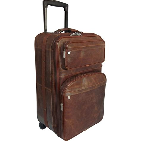 ebay luggage amerileather 25 quot expandable suitcase with wheels 2 colors