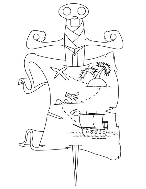 Treasure Hunt Coloring Pages treasure hunt coloring pages coloring pages
