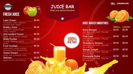 Drinks Signage Menuboard Design From Dsmenu Juice Menu Template