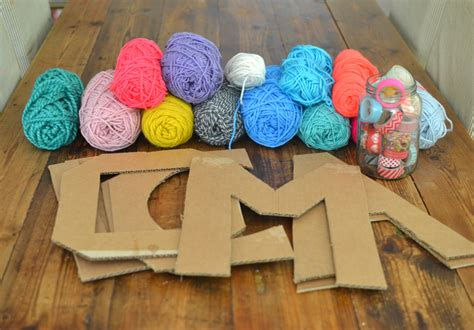 yarn covered letters yarn wrapped cardboard letters artbar