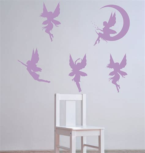 fairies wall stickers wall stickers by parkins interiors notonthehighstreet