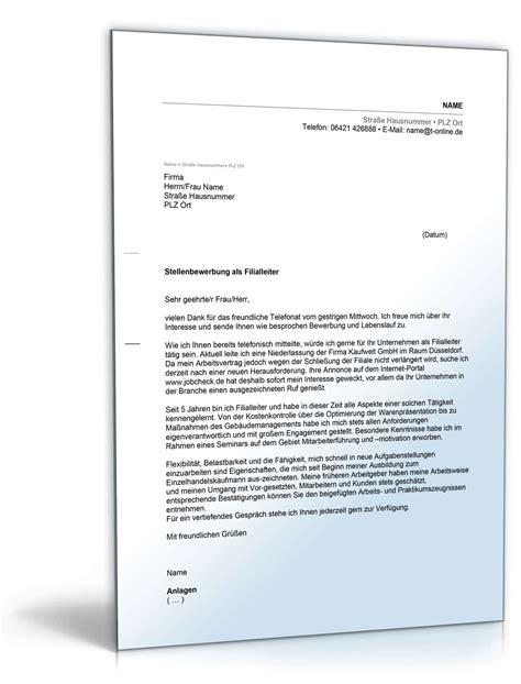 Bewerbung Neue Form anschreiben bewerbung filialleiter muster zum
