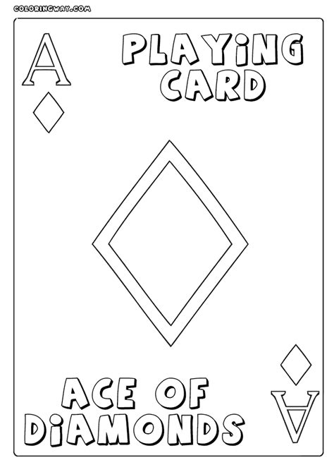 Credit Card Template Sketch deck of cards coloring pages coloring pages
