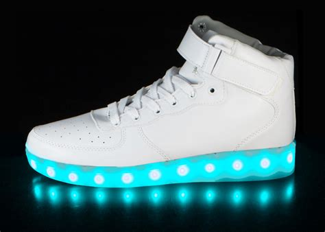 white light up shoes led shoes white super nova hoverkicks for adults