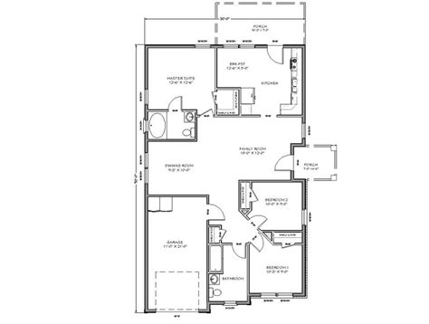 tiny house floor plans with two room or bedroom and large