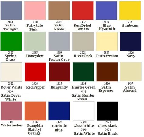 rust oleum ultra cover 2x gloss crafts paint color chart color charts and paint