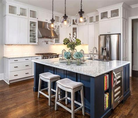 luxuriant idea navy blue kitchen ideas blue island white