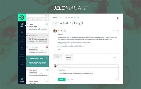 Jelo Mail App Template Freebies Fribly Mail App Templates