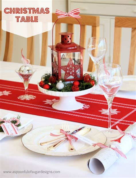 christmas table settings ideas our christmas table a spoonful of sugar