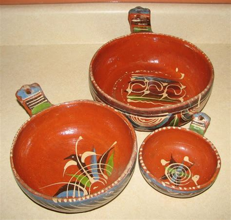Handmade Mexican Pottery - mexican pottery handmade nesting bowls for the home