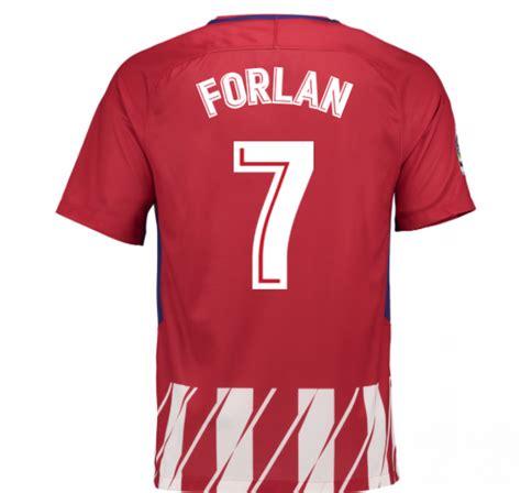 Forlan T Shirt 2017 2018 atletico madrid home shirt forlan 7