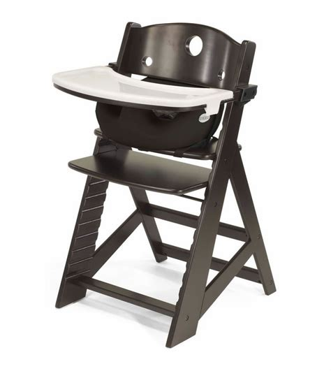 Black High Chair by Keekaroo Height Right High Chair Infant Insert