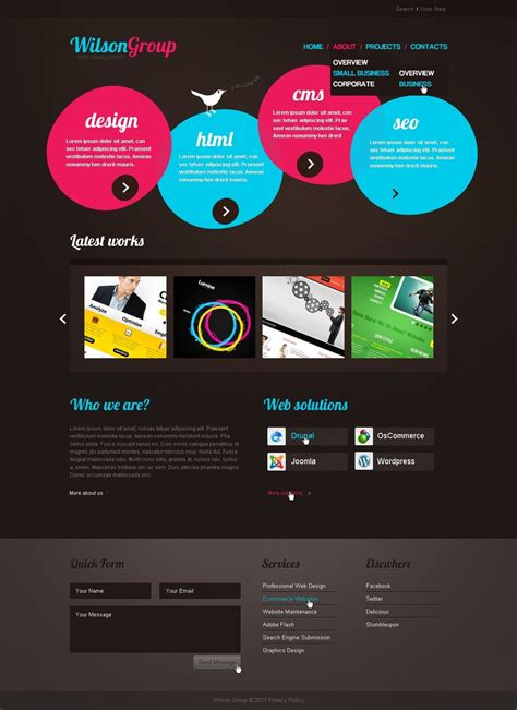 website templates for graphic designers 12 creative website templates for designers free