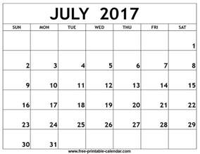 Calendar 2017 July To December July 2017 Calendar Printable Template Pdf Holidays