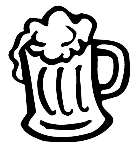 beer cartoon black and white vector dwarf with great beer mug clipart best clipart best