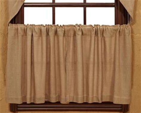 24 inch cafe curtains burlap natural tiers 24 inch the weed patch