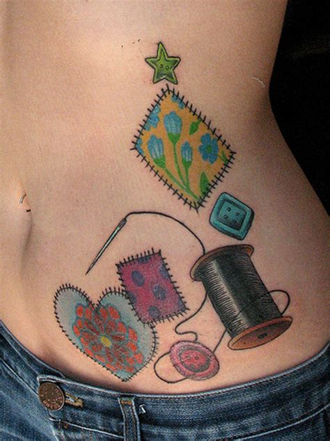 quilt pattern tattoo awesome quilting tattoo on left shoulder