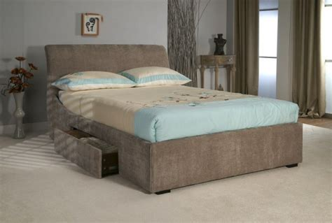 urgent king size divan bed frame with drawers and head limelight oberon 4ft6 double mink fabric bed frame with