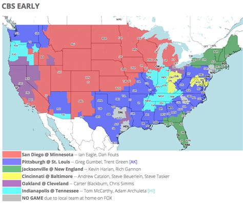 what state are the jaguars from jaguars vs patriots tv viewing map for week 3 on cbs