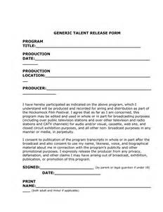 talent release form template doc 9001165 generic photo release form 53 free photo