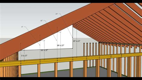 loading on ceiling joists conventional framed roof how to cut gable studs formula advanced carpentry and