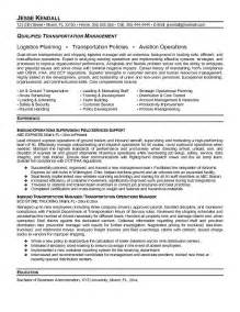 Traffic Management Specialist Cover Letter by Transportation Resume Exles Awesome Transportation Resume Objective Photos Guide To The