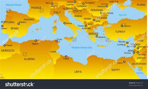 map  mediterranean sea  travel information