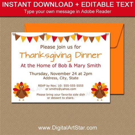 Thanksgiving Invitation Printable Thanksgiving Baby Shower Invitation Thanksgiving Birthday Friendsgiving Invitation Free Template