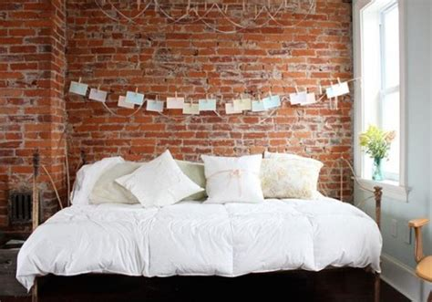 marvelous Decorating The Wall Behind Your Headboard #1: brick-wall-behind-your-bed-17-500x350.jpg