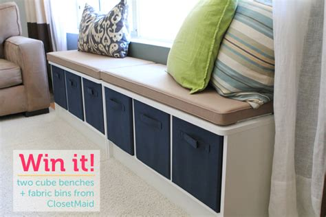closetmaid storage bench giveaway storage furniture from closetmaid modern