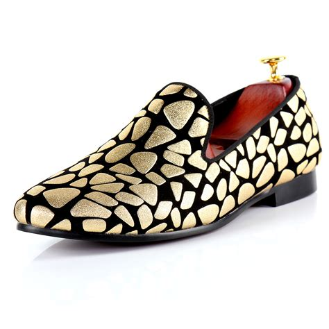 Fashion Shoes 602 1 harpelunde fashion shoes gold printed slip on formal shoes designer flats size 7 14 in