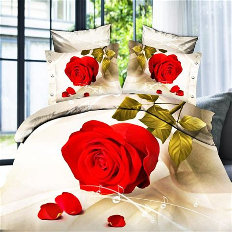 Bedcover Polos No 3 Single Size Rosewell Ungu Muda Ter Murah 3d effects flowers bedcover bed size doona duvet comforter quilt cover sheets