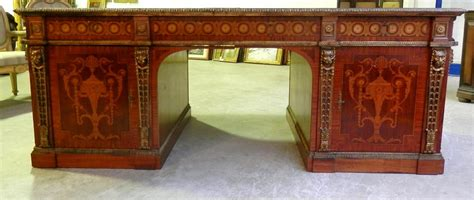 scrivania antiquariato scrivania diplomatica intarsiata antiquariato su