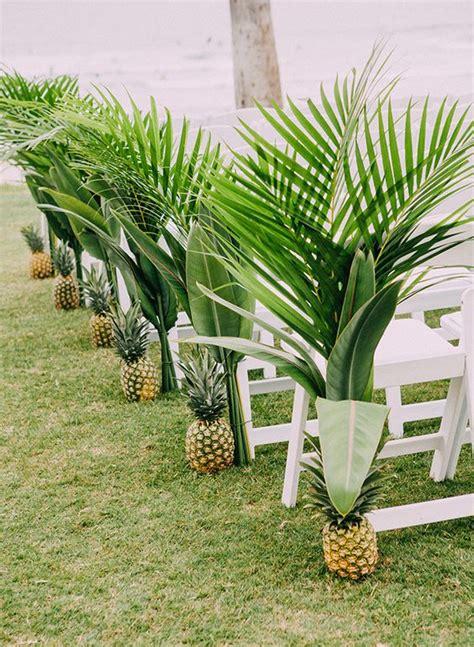 Wedding Aisle With Leaves by 29 Tropical Wedding Aisle D 233 Cor Ideas To Try Weddingomania