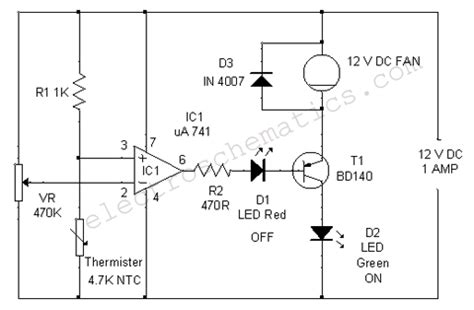 a thermistor motor temperature protection device operates by become device maker temperature controlled dc fan