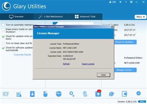 Glary Utilities Pro Giveaway - giveaway glary utilities pro v5 80 for free net load