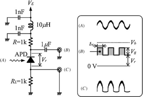 avalanche photodiode driver avalanche photodiode circuit diagram 28 images photodiode operating circuits photodiode