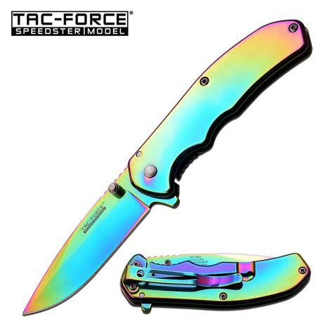 colorful pocket knives assisted folding pocket knife tac rainbow