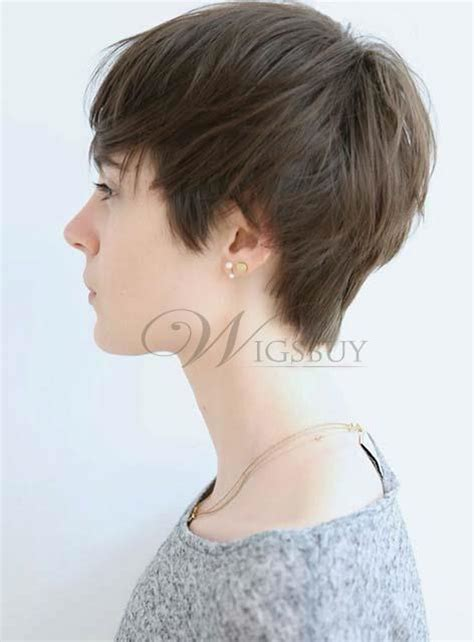 Carefree Short Straight Monofilament Top Human Hair Wig
